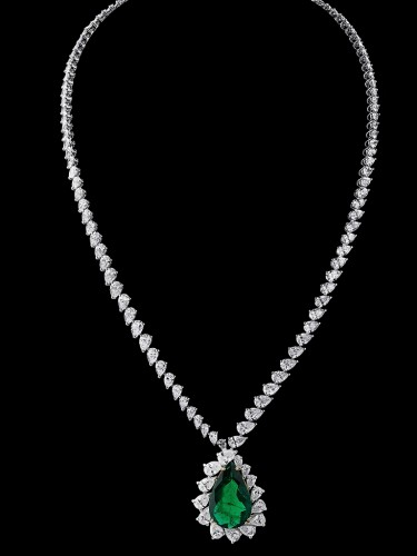 Gilan Collier Diamond Emerald