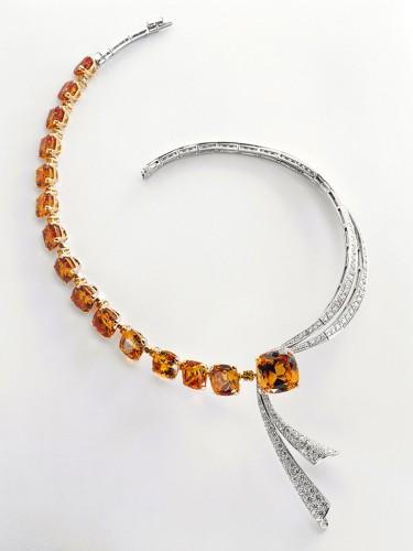 VCA Collier grenat mandarin